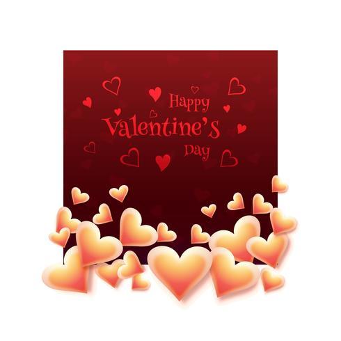 Liebeskarten-Herzentwurf des eleganten glücklichen Valentinstags