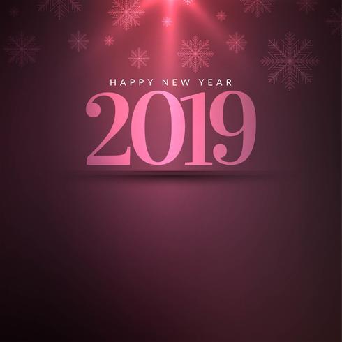 Gelukkige nieuwe jaar 2019 elegante decoratieve achtergrond