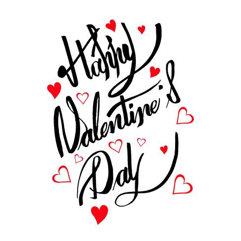 Happy valentine's day card calligraphy text design