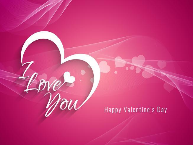 Abstracte gelukkige Valentijnsdag decoratieve achtergrond