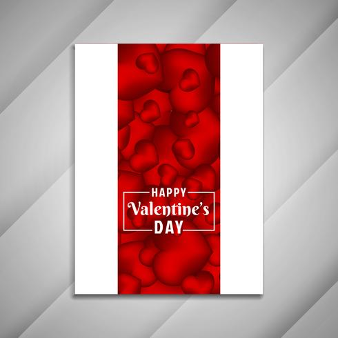 Abstract Happy Valentine's Day brochure design presentation