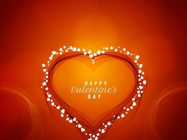 Dekorativer Hintergrund des abstrakten glücklichen Valentinstags