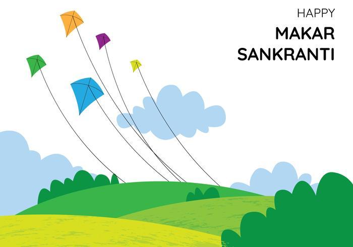 Playing Kites vector