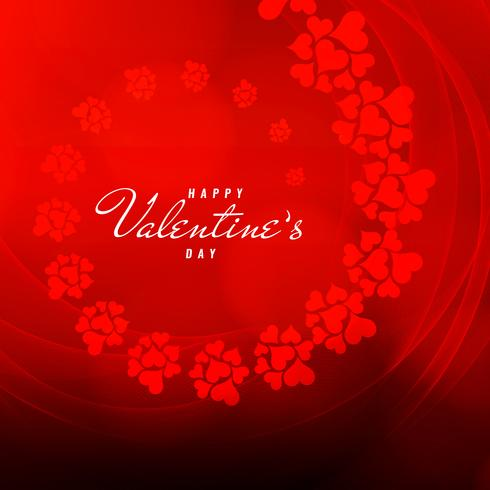 Abstract Happy Valentine's Day wavy background