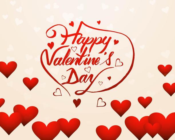 Elegant Lycklig valentins dag kärlekskort hjärta design