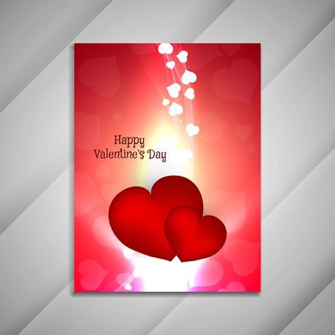 Abstrakt Lycklig Alla hjärtans dag ljus broschyr design presentati vektor
