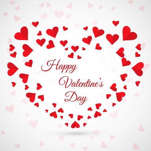 Ilustración colorida del fondo de la tarjeta de los corazones del día de tarjetas del día de San Valentín