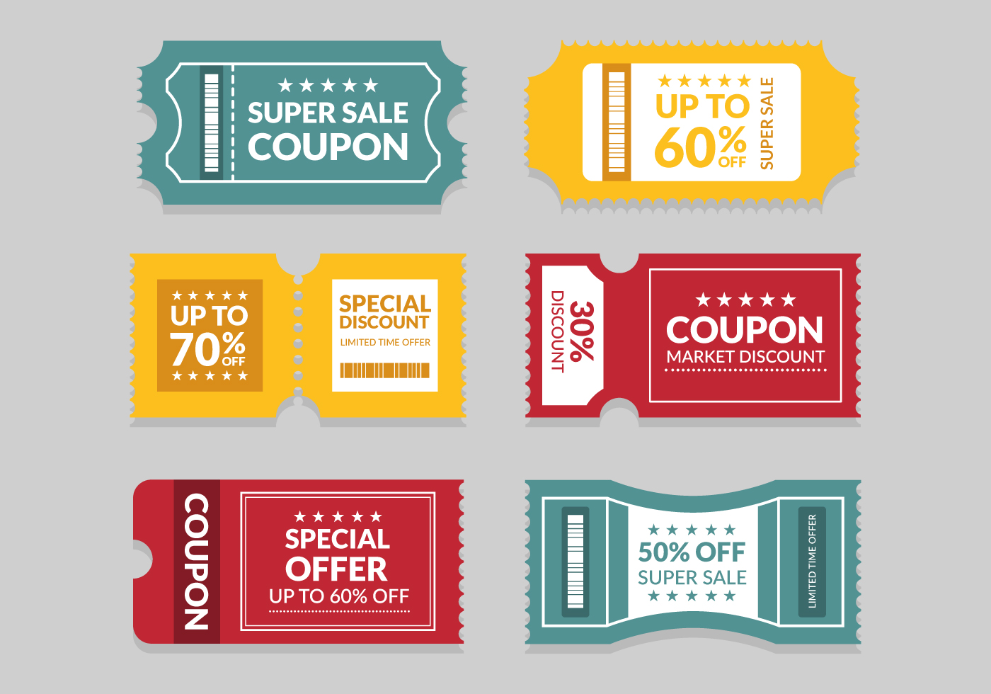 coupon template 272527 vector art at vecteezy