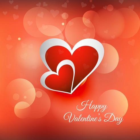 Ilustración colorida del fondo de la tarjeta de los corazones del día de tarjetas del día de San Valentín vector