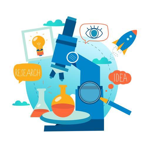 Investigación, laboratorio de ciencias, experimento científico, pruebas, investigación de microscopios.