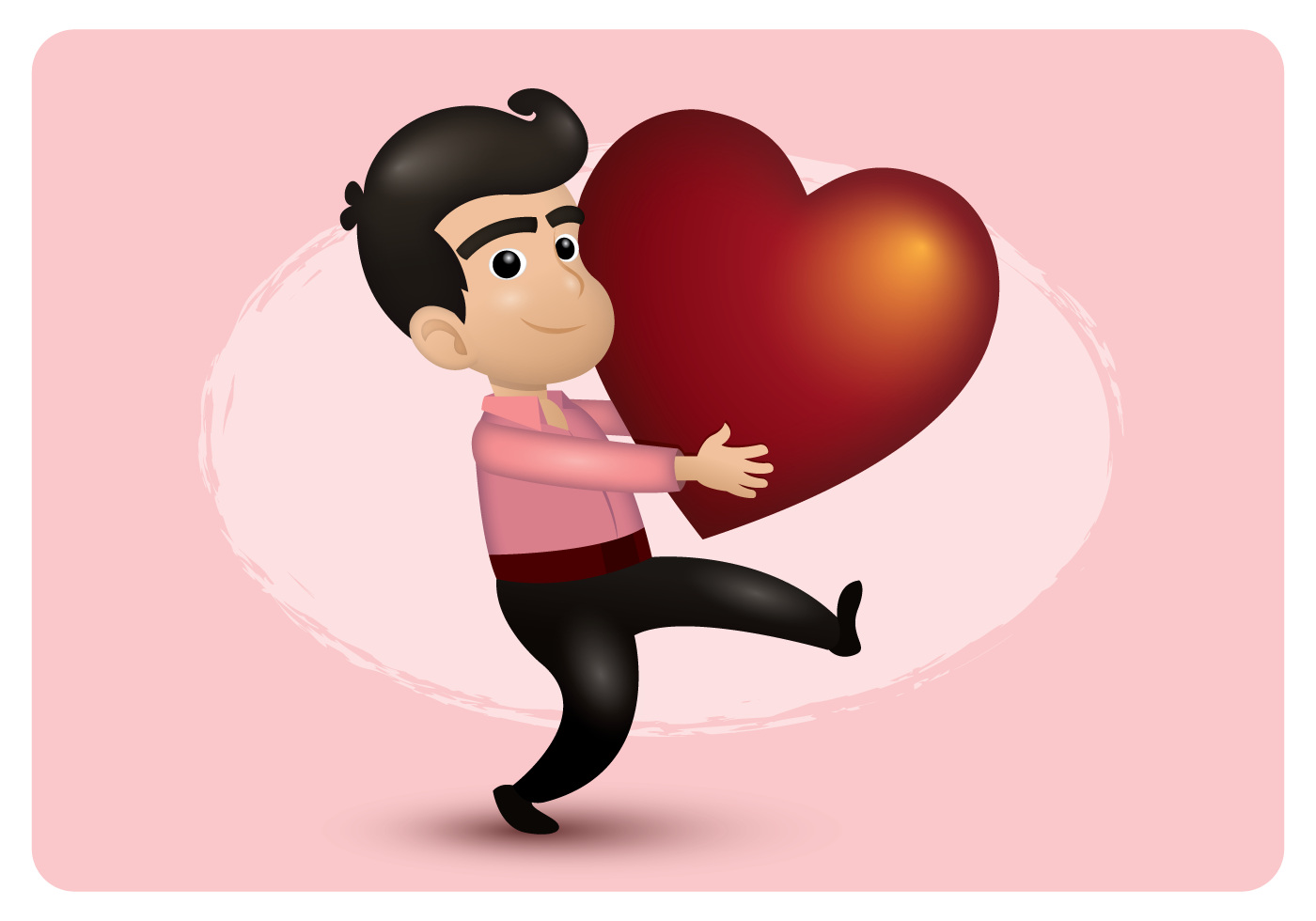 Boy Holding Big Heart - Download Free Vectors, Clipart ...