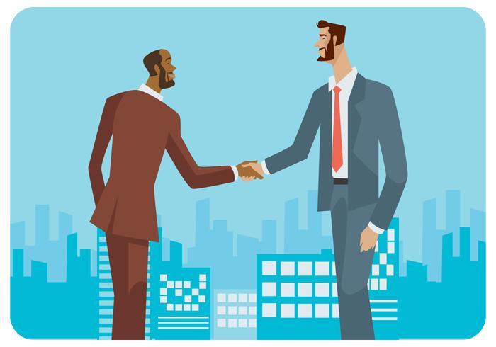 Vector de dos empresarios internacionales
