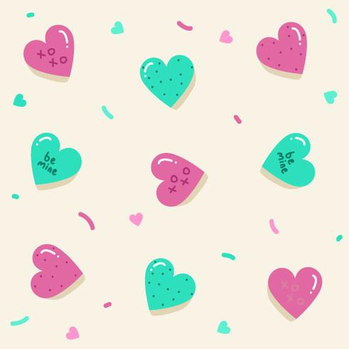 Valentine's Candy Hearts Vector