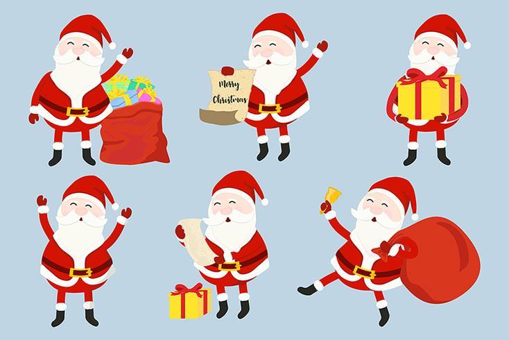 Santa Claus instellen vector