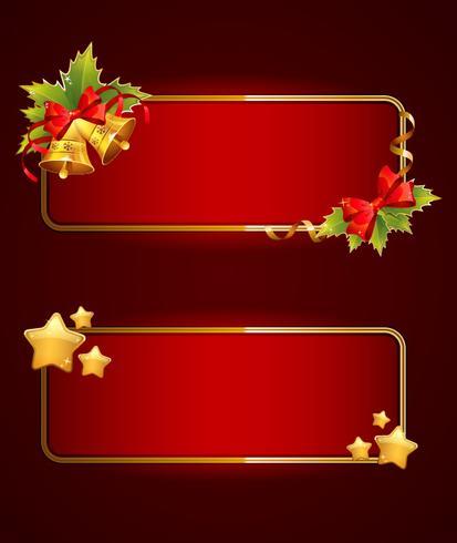 Bannières festives de Noël avec des cloches