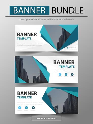 bundle of Blue corporate business banner template,