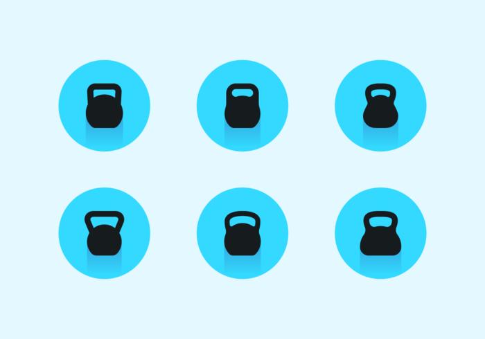 Paquete de vectores gratis de Kettle Bell