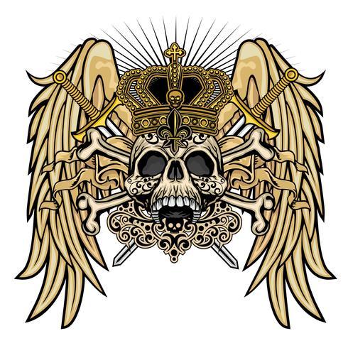 Grunge Schädel Wappen