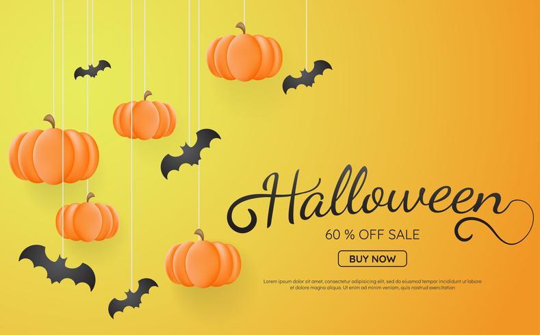Fondo de Halloween Vector de fondo para banner, cartel, flyer