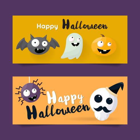 Sfondo di Halloween Sfondo vettoriale per banner, poster, flyer