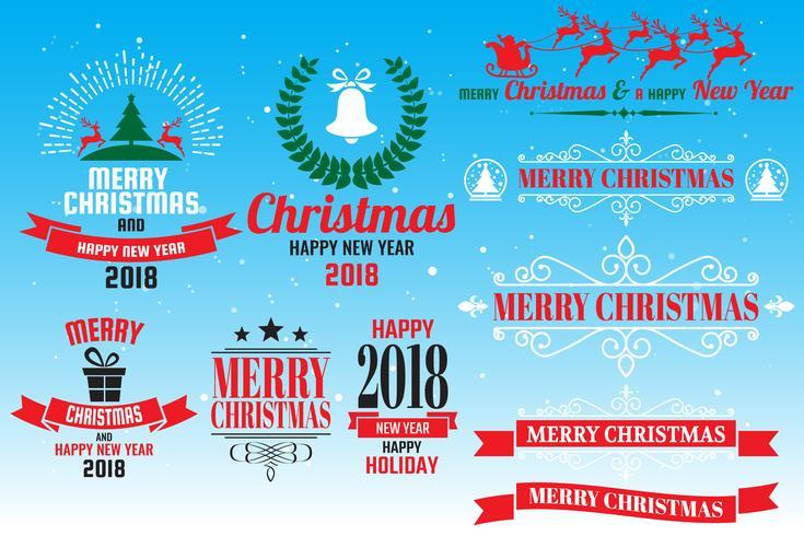 Logo di Natale Vettore per banner