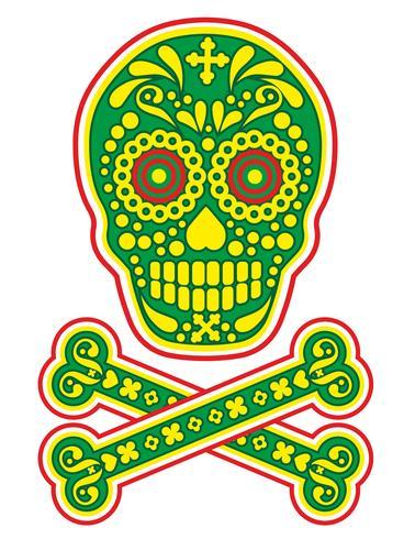 cranio di zucchero messicano vettore