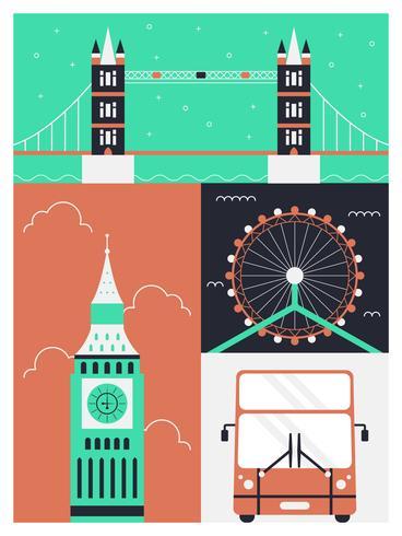 Verbazingwekkende Londen vectoren