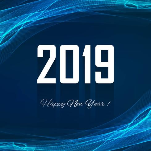 Fondo variopinto di celebrazione del buon anno 2019