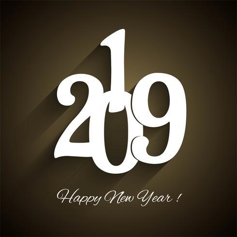 Beautiful new year 2019 celebration background