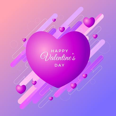 Día de san valentín marco
