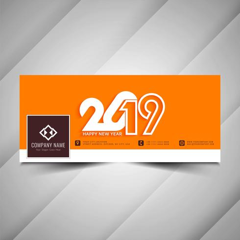 Nuovo anno 2019 social media banner decorativo design