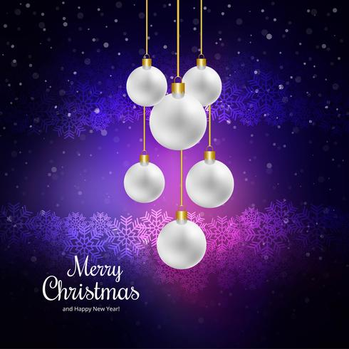 Merry christmas celebration ball colorful background