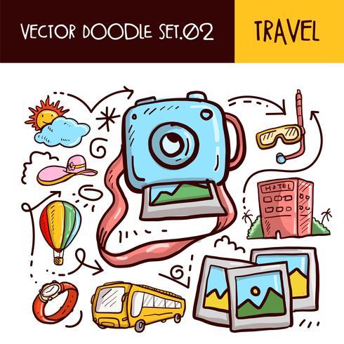 Icono de garabatos de viaje vector