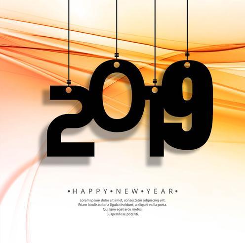 Fundo de texto lindo feliz ano novo 2019