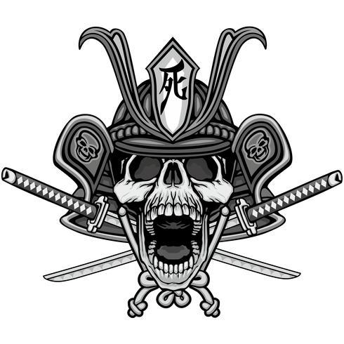 samurai skull sign