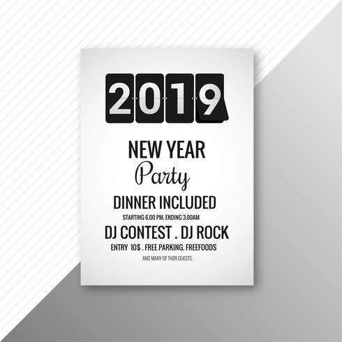 Bella 2019 flyer celebrazione festa modello di progettazione vettore