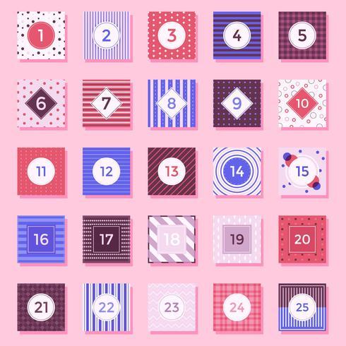 Calendario de Adviento Vector Imprimible