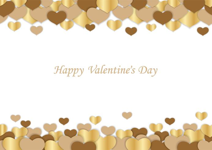 Valentine's Day seamless vector background.