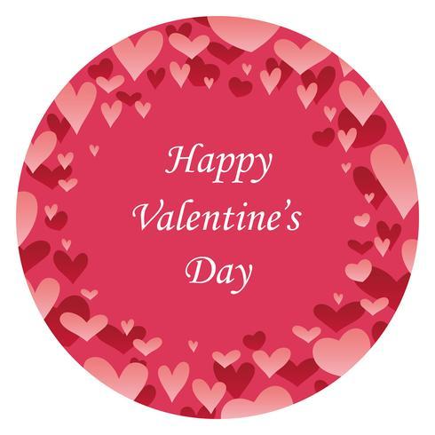 Fondo redondo del extracto del día de tarjeta del día de San Valentín con el espacio del texto.