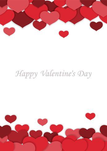 Fondo inconsútil del vector del día de tarjeta del día de San Valentín.