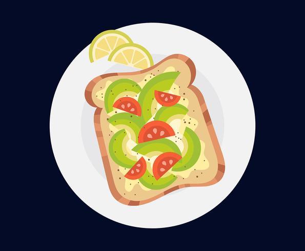 Ilustración de tostadas de aguacate