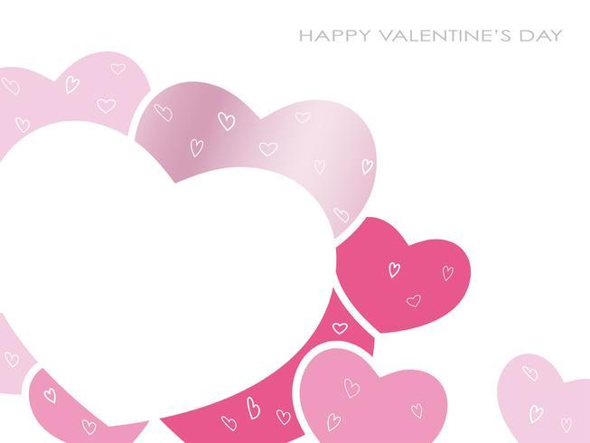 Scheda di messaggio vettoriale per San Valentino, ecc.