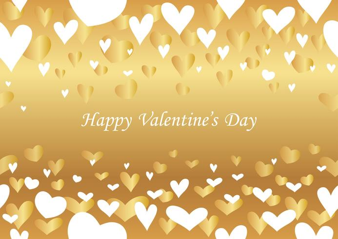 Valentine's Day abstract seamless background. vector