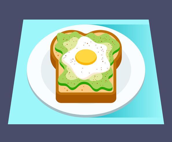 Ilustração de torrada de abacate