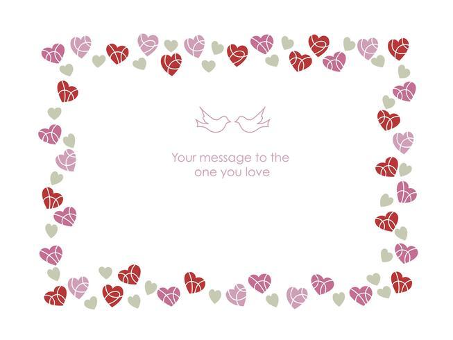 Rechthoekig kader voor Valentijnsdag, etc.