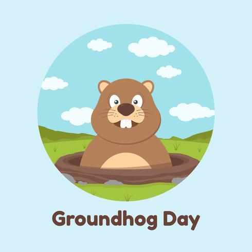 Groundhog Day vectorillustratie
