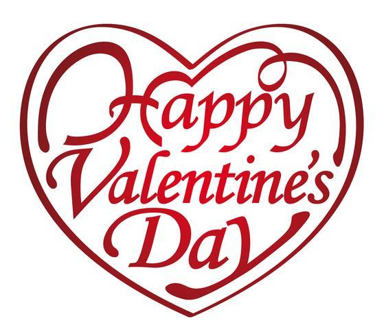 Logo / icona a forma di cuore di San Valentino. vettore