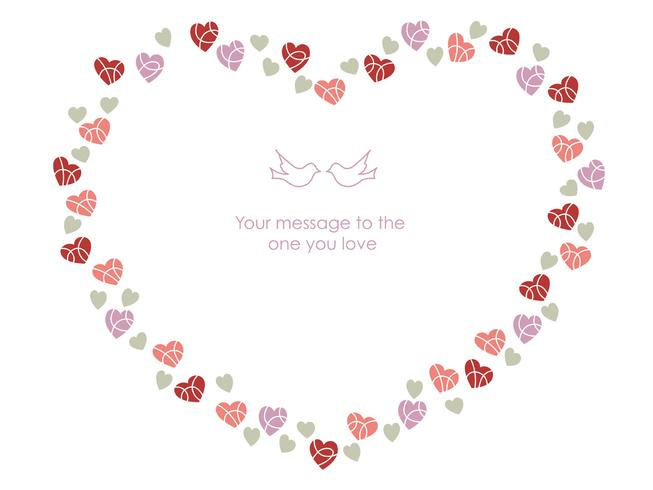 Heart-shaped frame for Valentine's Day, etc.