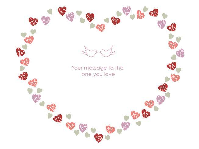 Cornice a forma di cuore per San Valentino, ecc.