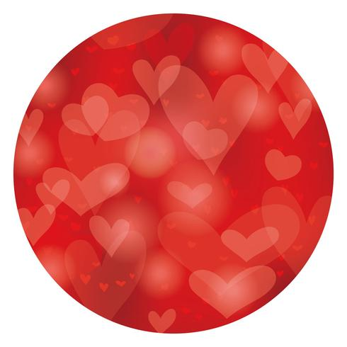 Valentine's Day/bridal circle abstract background.